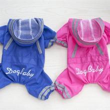 Новая одежда для собак, дождевик, комбинезон со шляпой, летнее непромокаемое пальто для собак, кошек, домашних животных, perro del, непромокаемые S-XXL