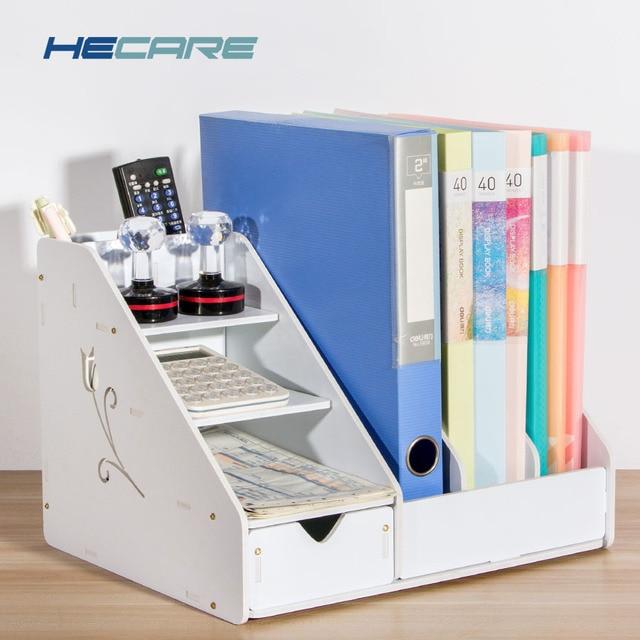 Office Storage Holder White Pink Desk
