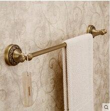 Высокое качество античная латунь настенный 24 дюймов одноместный полотенце бар ванная оборудования, Аксессуары для ванной комнаты