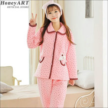 Han edition can be worn outside  Pajamas in autumn and winter especially for maternity DD371z
