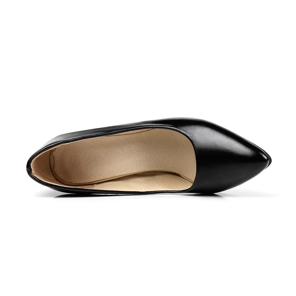 LAFS CSTLAV Dasar Tumit Tinggi 9 cm Pompa Wanita Nyaman Gaun Kasual - Sepatu Wanita - Foto 3