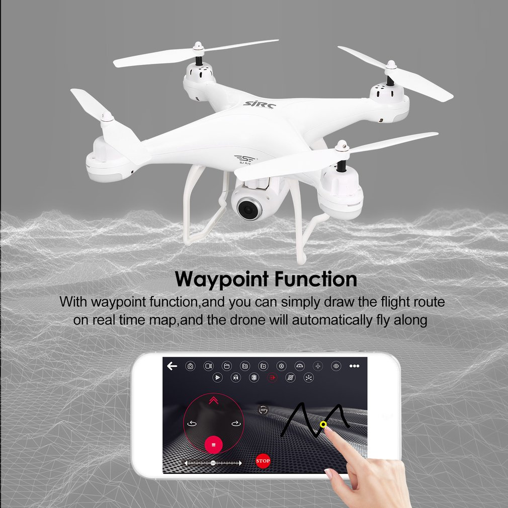 SJ R/C S20W FPV 1080P камера селфи высота удерживающий Дрон Безголовый режим автоматического возврата взлета/посадки Hover GPS RC Квадрокоптер - 2