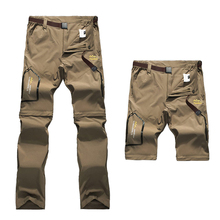 2018 Men s Quick Dry Cargo Pants Male Removable breathable Pants Mens OutdoorHiking Trekking Tactical Men