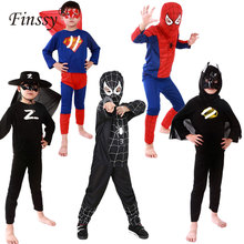 Red Spiderman Costume Carnevale Kids Superman Black Spiderman Zorro Disfraces Carnaval Karneval Costume Boys Halloween Costume