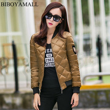 BIBOYAMALL 2017 Autumn Fashion Jacket Women Long Sleeve Basic Coats Casual Thin Slim Outerwear Short Pilot Bomber Jackets