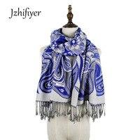 Wholesale New Arrival High Quality Jacquard Winter Kashmir Big Paisley Pattern Scarf Women Wraps Shawls