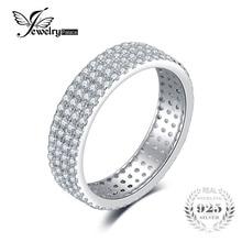 Jewelrypalace кубического циркония годовщина свадьбы Band Channel Набор Вечность кольцо стерлингового серебра 925 для женщин изысканное очарование