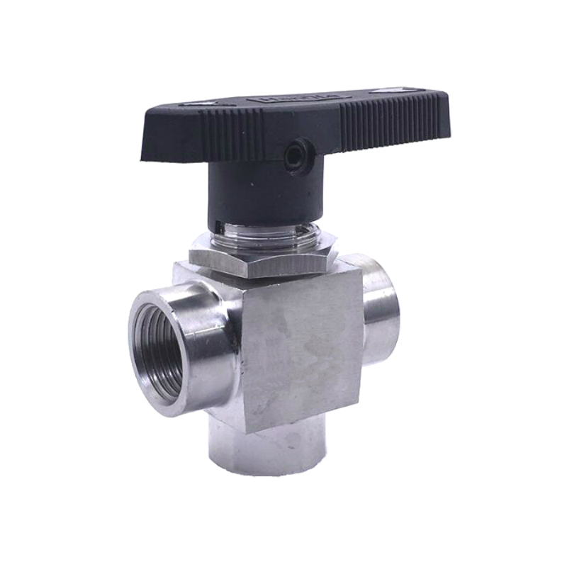 Stainless Steel 304 1/8 1/4 3/8 1/2 Female BSPP Instrument 3 Way Ball Valve T Port Pnael Mount 3 4 female bspp 304 stainless steel check valve wog 1000 spring loaded in line sus ss304