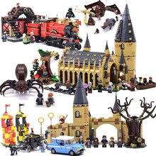 Харри Хогвартс Поттер большой зал Экспресс замок, домик Конструкторы Кирпичи DIY игрушечные лошадки для детей Подарки Совместимость с legoingly 75954