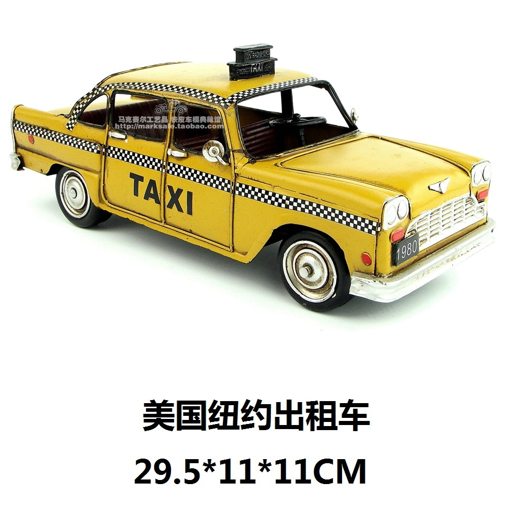 The New York Taxis Wrought Iron Handicraft Birthday Gift