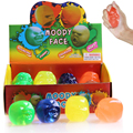 2016 Hot Sale 1Pc Funny Novelty Gift  Creative Vent Human Face Ball Anti Stress Toy Soft Funny Bouncing Squeeze Moody Face Toy