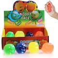 2016 Hot venta 1 unid regalo divertido de la novedad creativa Vent cara humana de bolas Anti estrés Soft divertido rebotando Squeeze Moody juguetes cara