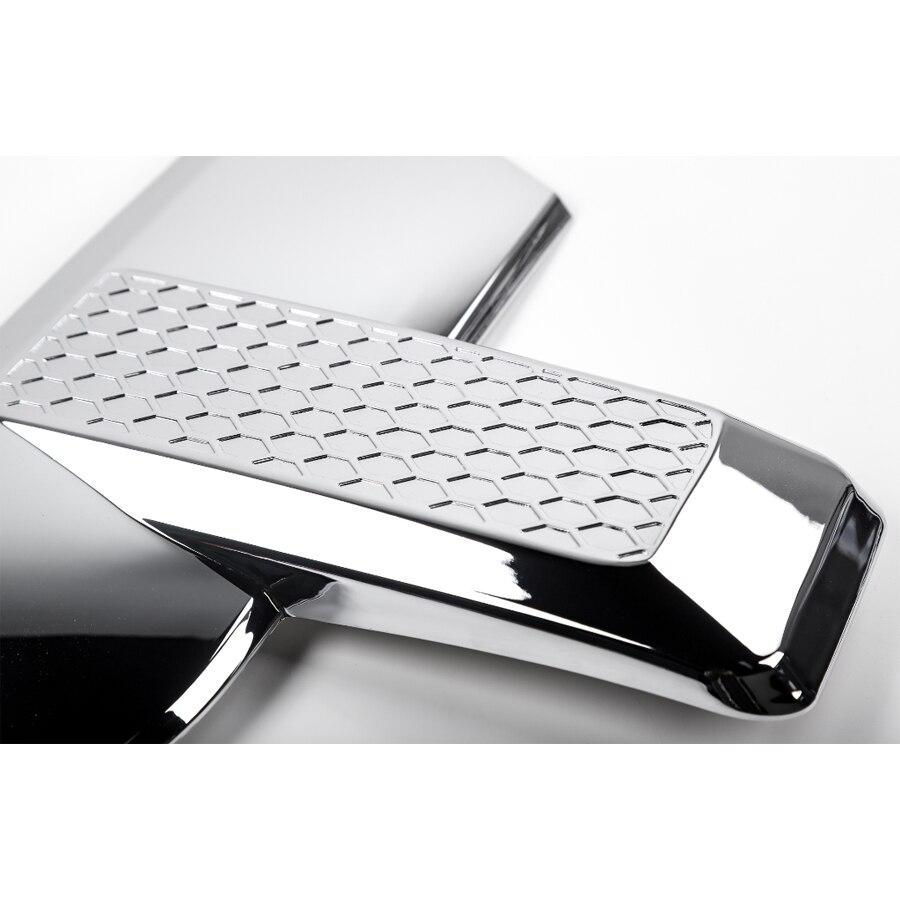 YAQUICKA 2 unids/set lámpara de luz delantera del coche parrilla frontal ajuste de la cara del bisel de estilo etiqueta de la cubierta para Ford F150 2015 + Accesorios de coche - 2