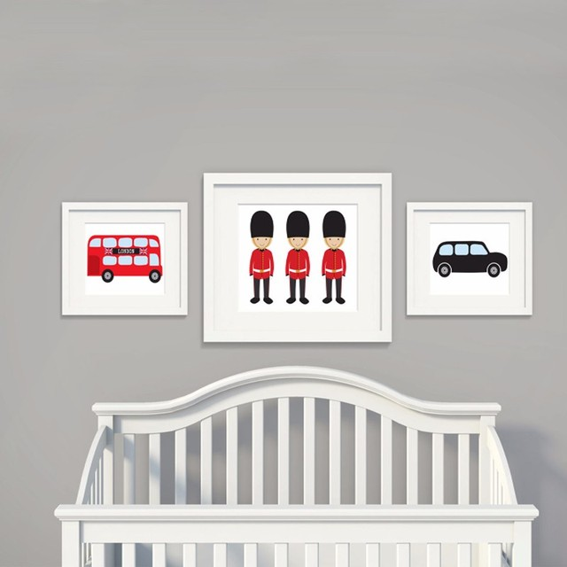Londen Thema Nursery Art Wall Art Metro Art Nursery Decor Posters en ...