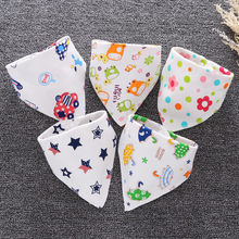 Baby Girls Boys Bib Cotton Baby Bibs Bandana Baberos Bebe Feeding Smock Double-layer Buckle Eating Burp Cloths Baby Things(China)
