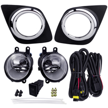 Car Accessories For Toyota RAV4 2009 Fog Light Assembly Plating Lamp Cover Waterproof 4300K 55W Super Bright Source