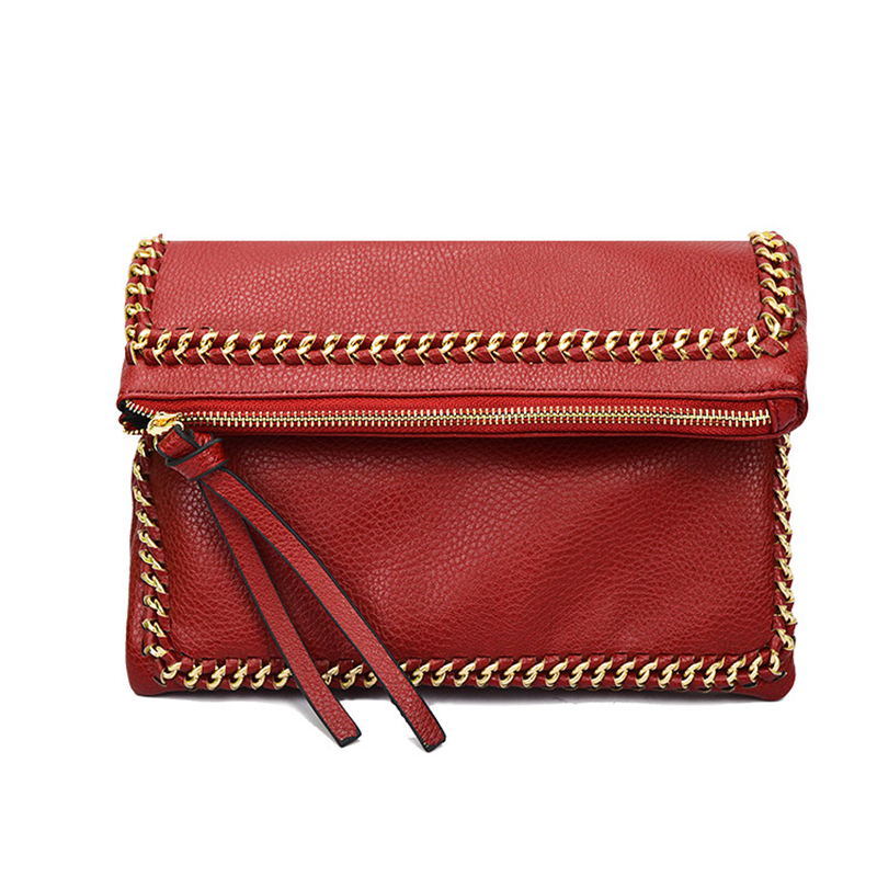 New Fashion Chain Zipper Hasp PU Leather Famous Designer Luxury Brand Women Clutch Vintage Female Handbag Shoulder Crossbody Bag fashion casual michael handbag luxury louis women messenger bag famous brand designer leather crossbody classic bolsas femininas