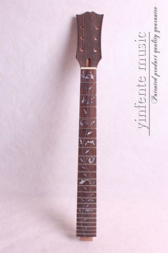 one high quality Unfinished electric guitar neck mahogany made rosewood fingerboard black color 24 frets holt on one electric guitar neck mahogany wood and rosewood fingerboard 171