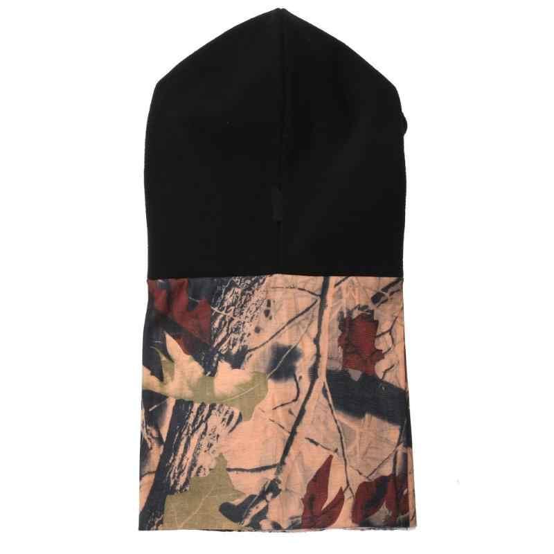 Зимняя Лыжная для открытого воздуха ветрозащитный для езды флис теплый для шеи капюшон шляпа