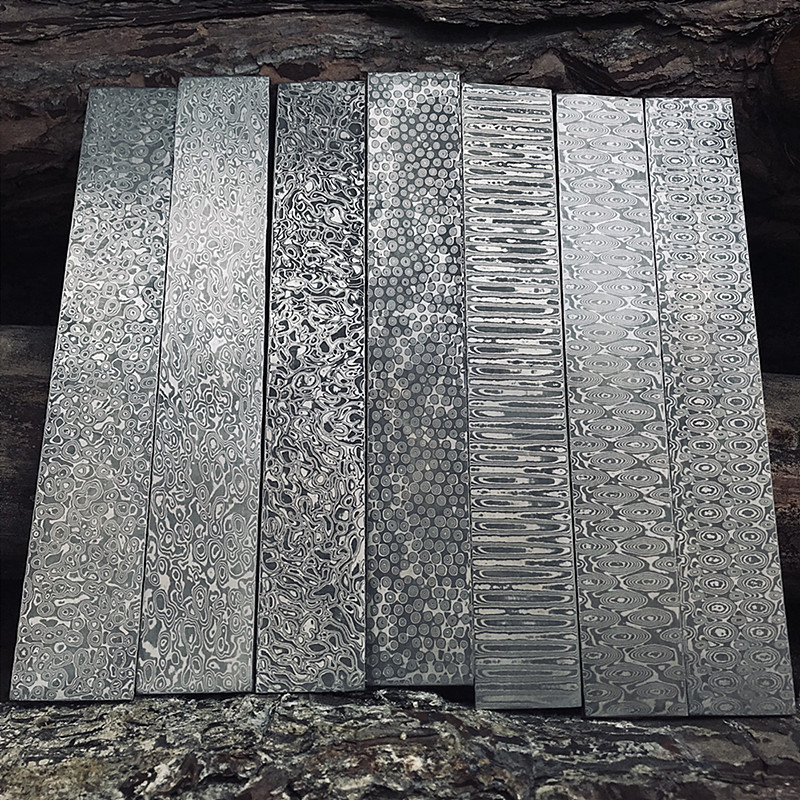 Dropship VG10 Damascus Steel Forged Raw Material Steel Knife Blank Pattern Steel Strip DIY Pattern Thousand Layer Steel