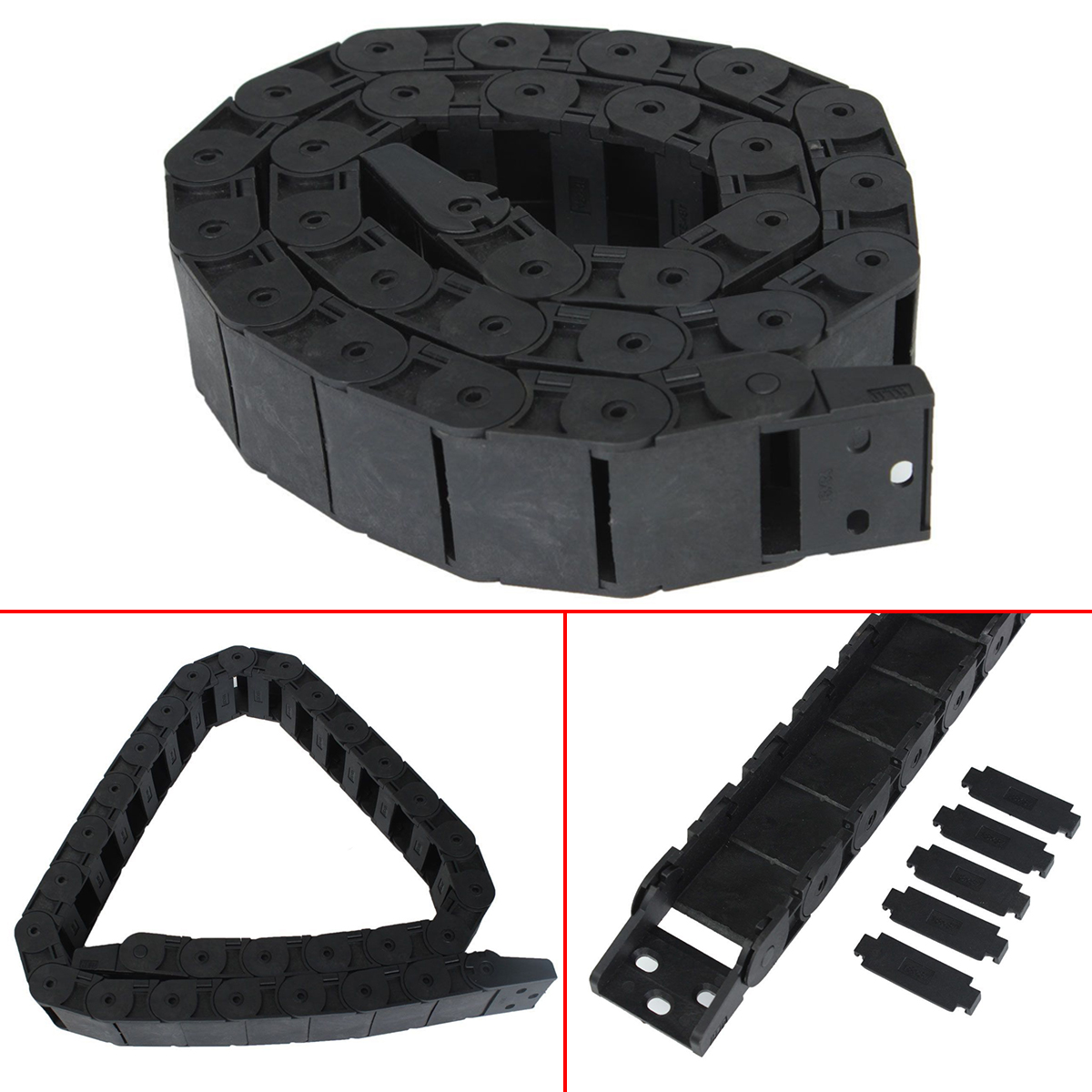 """Transmission Chains 40/"""" Plastic Drag Chain Towline For CNC Router Machine Tools"""