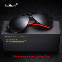 RoShari vintage sunglasses men polarized Brand top quality polaroid Driver sun glasses Men Fishing Eyewear gafas de sol hombre