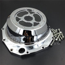 Motorcycle Part See through Engine Clutch Cover For Suzuki GSX1300R Hayabusa 1999-2013 B-king 2008 2009 Chrome