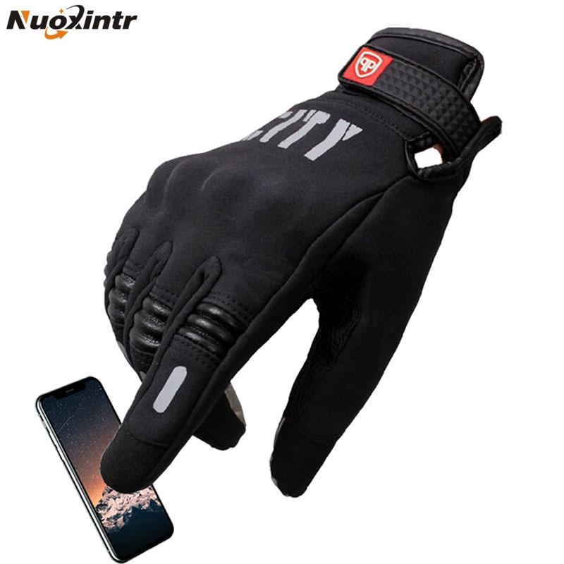Nuoxintr Motorrad Handschuhe Guantes De La Motocicleta Handschuh Voll Finger Motocross Luvas Bildschirm Touch Radfahren Racing Spor