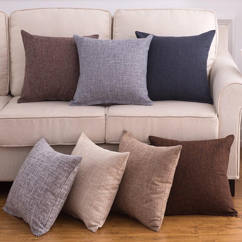 1Pcs 40*40cm Linen Throw Cushion Cover Home Decoration Sofa Bed Decor Decorative Pillowcase Pillow Cover 40396