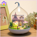 Handmade Doll House Diy miniature Wooden Dollhouse miniaturas Furniture House Doll Toys For Children Birthday Gift MG011