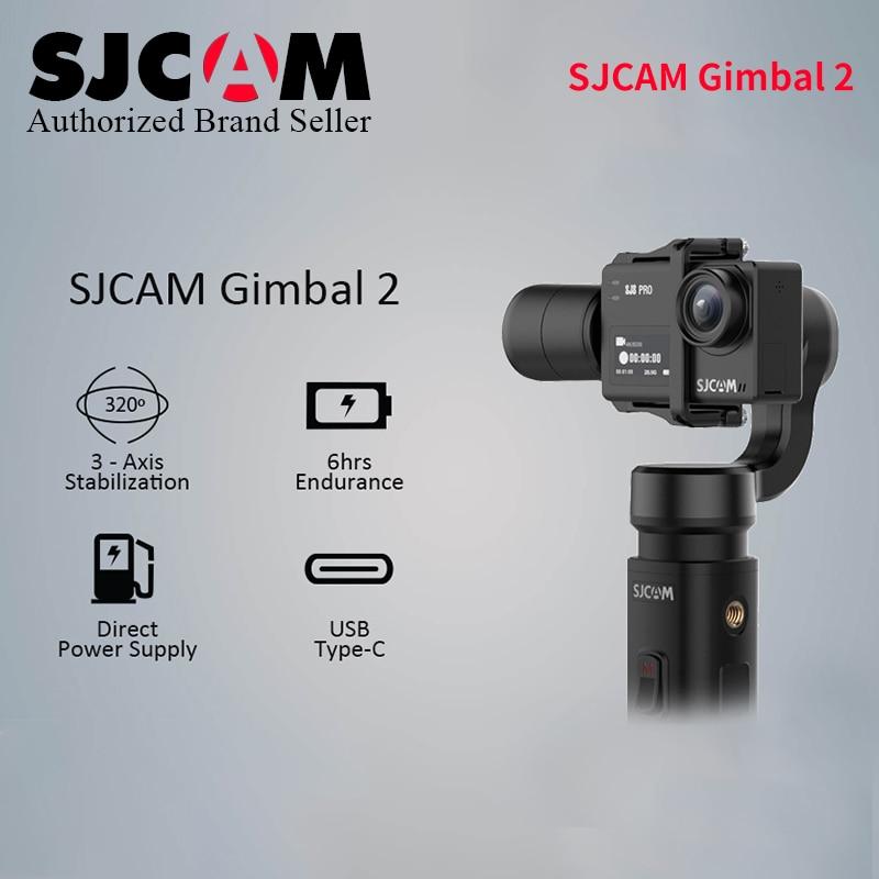 Sjcam sj8 pro plus sj cardan handheld de ar-cardan 2 estabilizador de 3 eixos para sj7 estrela sj6 lenda sj8 plus pro yi 4k ação cam
