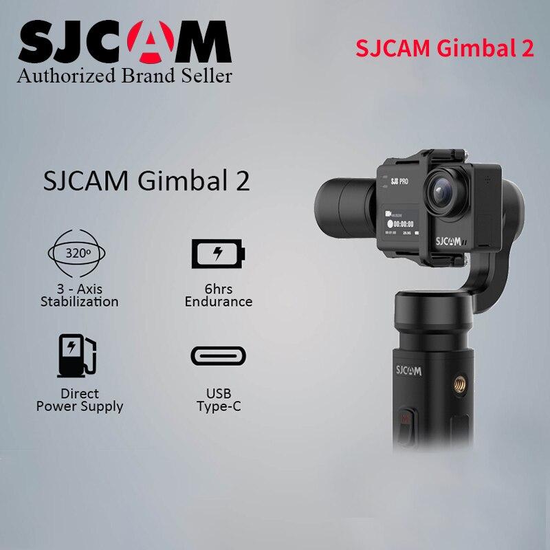 2019 apagado SJCAM SJ8 Pro Plus de aire de mano cardán SJ-cardán 2 3 eje estabilizador para 7 Star SJ6 leyenda wifi 4 k Cámara de Acción