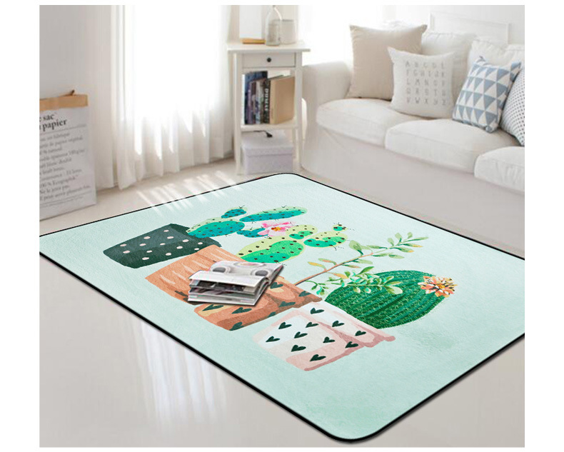 The Cactus Large Carpet Livingroom Bedroom Rug Nordic Carpet Sofa