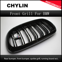 2 Piece F16 X6 F15 X5 Auto Car Front Bumper Mesh Grill Grille For BMW X5