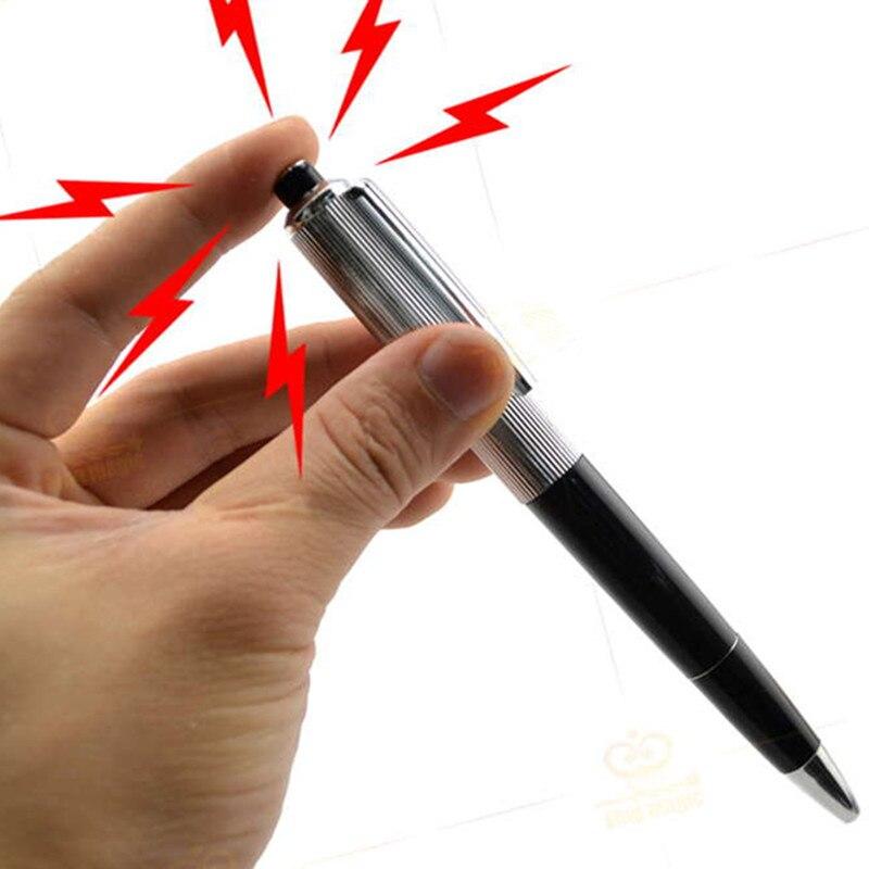 1 Pcs Fancy Shocking Ball Point Pen Electric Shock Toy Gift Joke Prank Trick Fun Toy Pen Toy Gifts For Adults Ballpoint Pens