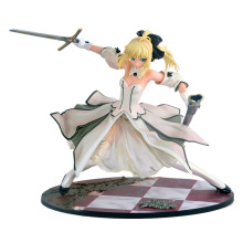 купить 23cm Fate Stay Night Saber Sword victory Action Figures PVC Collection Figures toys for christmas gift по цене 2813.67 рублей