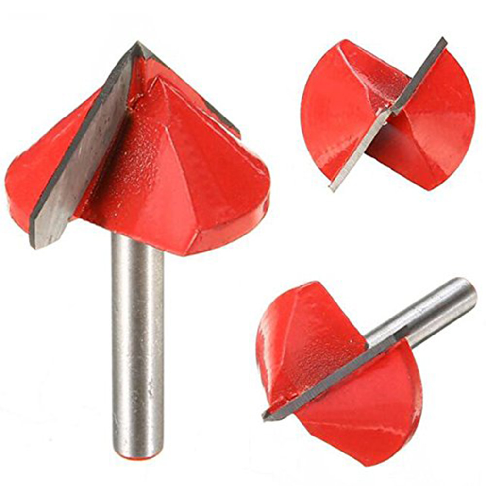 Router CNC Engraving V Groove Bit 6mm x 32mm 90 Degree Woodworking Cutter Tool