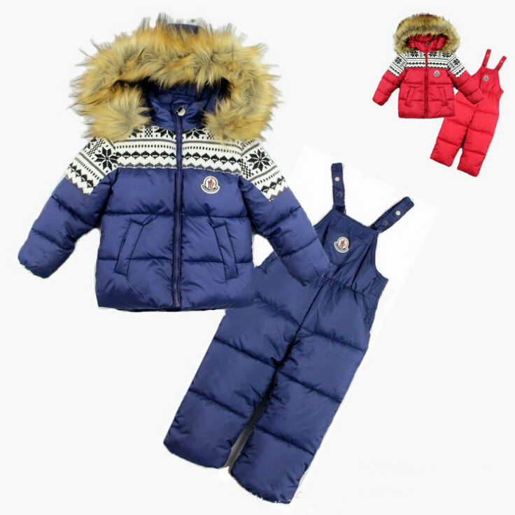 ФОТО [loongbob]2015 new baby ski suit kids waterproof cotton warm clothing set boys girls winter thick warm 2 pcs children snow suits