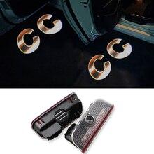 2X LED Door Light Laser CC Logo Projector For VW Golf 5 6 7 Jetta MK5 MK6 MK7 CC Tiguan Passat B6 B7 Scirocco Touareg Sharan