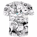 Memes Da Internet Tees Hipster 3D t shirt Das Mulheres Dos Homens de Verão Harajuku Camiseta Emoji Ganhos t camisas Populares