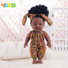 YARD Black Realistic Silicone Reborn Dolls for girls Soft doll new born baby Christmas Birthday Lifelike Baby reborn
