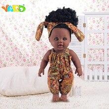 YARD Black Realistic Silicone Reborn Dolls for girls Soft doll new born baby doll Christmas Birthday Lifelike Baby reborn doll