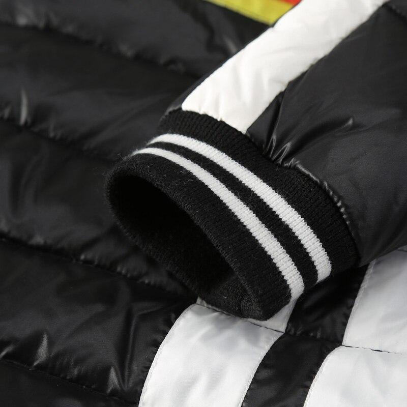 ELF SACK Winter Women Down Coats Fashion Letter Print Graffiti Long Outerwear Long-Sleeve Stripe Appliques Down Coats
