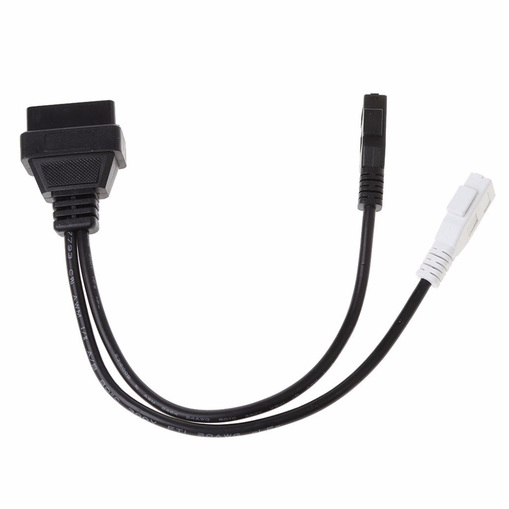 OOTDTY New <font><b>2X2</b></font> pin To 16 Pin Female <font><b>OBD2</b></font> Diagnostic <font><b>Connector</b></font> Adaptor Cable For <font><b>VW</b></font> <font><b>Audi</b></font> T Skoda Suit VAG KKL USB Interface Cable image