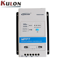 EPever TRIRON1206N 130W/12V 260W/24V 10A MPPT Solar Charge Controller LCD Modular Solar Regulator Negative Grounding