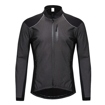 WOLFBIKE Winter Men's Cycling Jackets Thin Thermal Fleece Warm Water Repellent Bike Windbreaker Windproof Outdoor Sports Coat