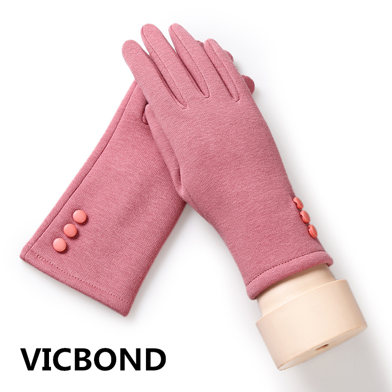 New autumn winter cashmere outdoor touch screen glove solid color woman thickening warm gloves fashion 1pcs