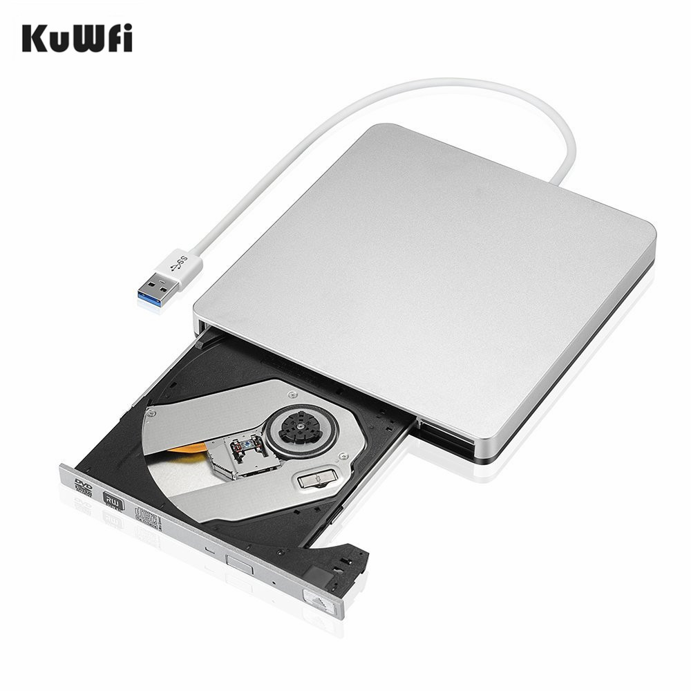 External Slim <font><b>USB</b></font> 3.0 <font><b>DVD</b></font> Burner <font><b>DVD</b></font>-<font><b>RW</b></font> VCD CD <font><b>RW</b></font> Burner Drive Writer Drive For Apple Pro Air iMAC PC Laptop Notebook image