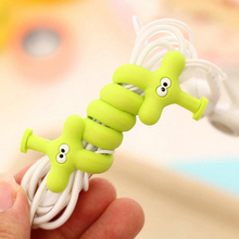 Mobile Phone Digital Cable Organizer Silicone Animal Protective Sleeves Cable Winder Cover for iPhone iPad Data Line