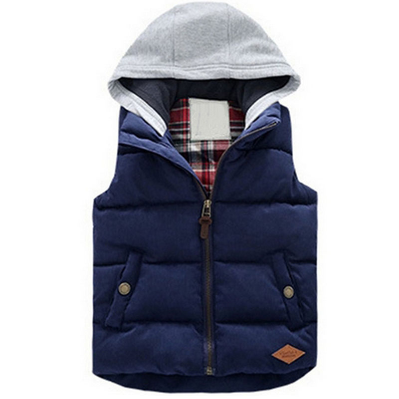 Sping Winter Children Zippe Vests Hoodies Warm Jacket Baby Girls Outerwear Coat Kids Vest Boys Hooded Jackets Thicken Waistcoats 2018 winter children boys parka jacket kids thicken warm 90% cotton camouflage hooded coat baby boys girls casual outerwear